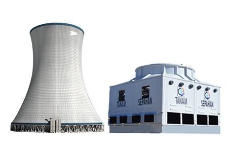 برج خنک کننده فایبرگلاس و بتنی