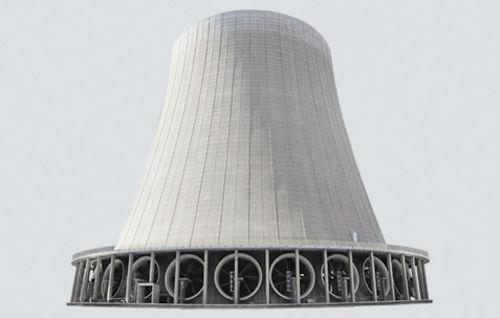 مکش هوا در برج خنک کننده